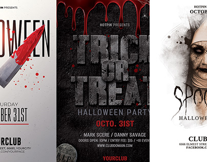 Halloween Party Flyer Template Bundle