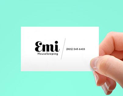 Emi Housekeeping – Logo Design + Business Card