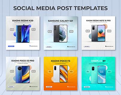 Smartphone Social Media Post Templates I Ad Banners