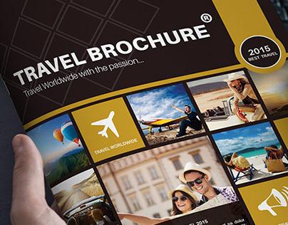 Travel Brochure Template A4 Bi-Fold