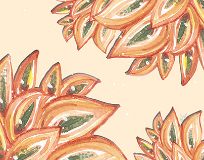 Wild Agave leaves_hand painted watercolor