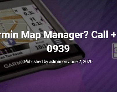 What is Garmin Map Manager?