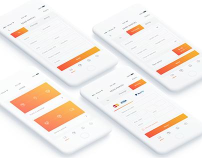 UX/UI design of a mobile app