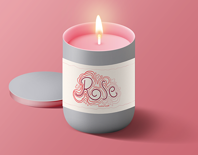 Valentines Candle Label Designs