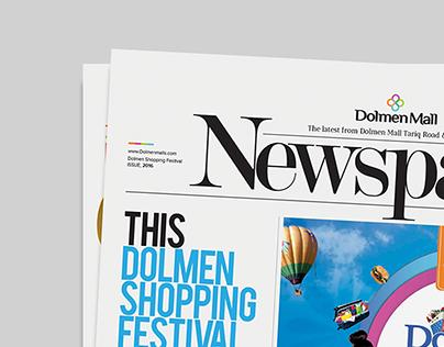 Dolmen Mall Shopping Fest - Newspaper Design