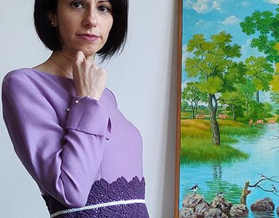 Purple virgin wool