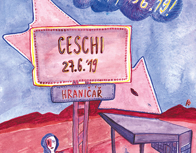 Poster for Ceschi and Hurricane Party