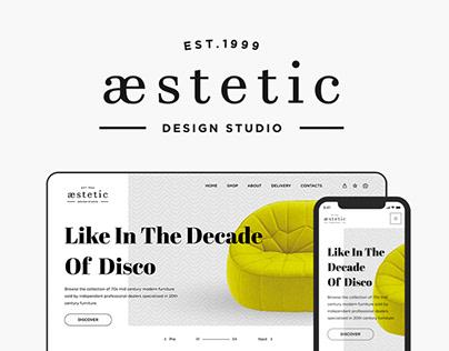 aestetic. UI/UX design for furniture studio