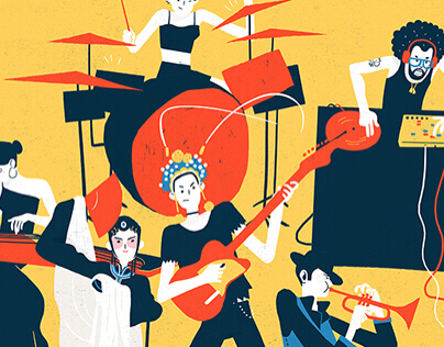 Poster illustration for China music house