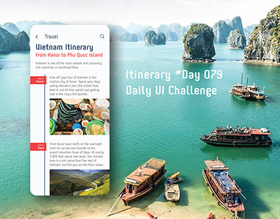 Day 079- Itinerary - Daily UI challenge