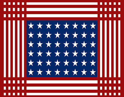 Stars & Stripes On A Square