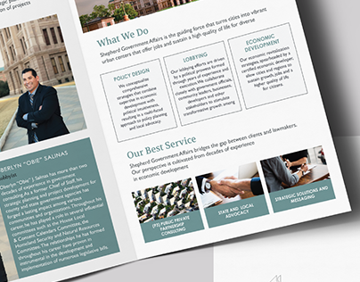 Shepherd Government Affairs Brochure Design