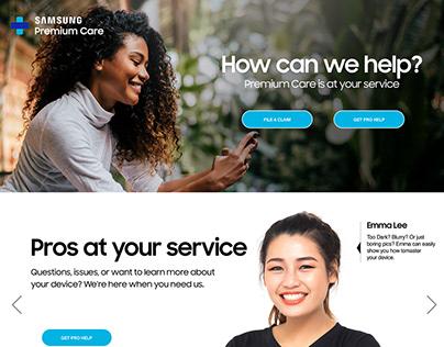 Samsung Landing Page Design