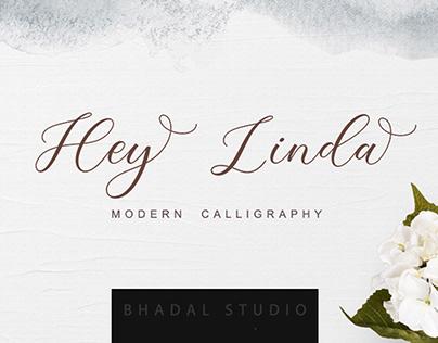 Hey Linda-script font