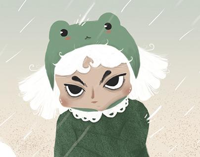 moody litle frog