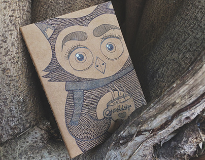 Handmade Notebook with Owl