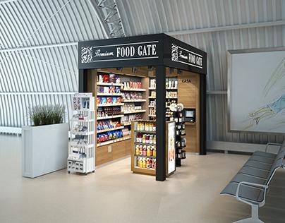 Airport shop Interior
