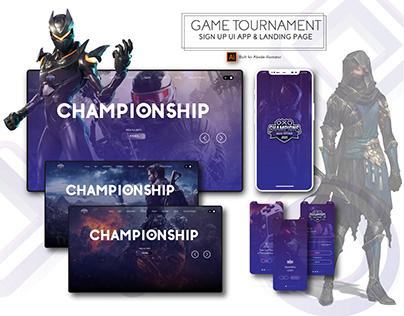 Sign Up Screen UI Kit | Tournament App UI