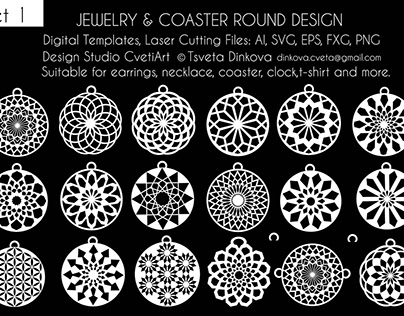 Jewelry Coaster Tags and Pendant Design
