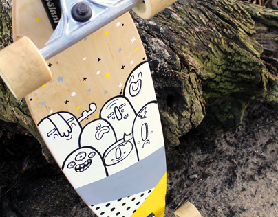 Longboard illustration