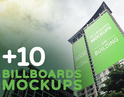Billboards Mockups on Building