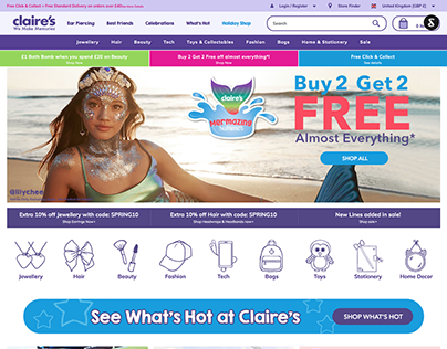 Claire's & Icing: eCommerce