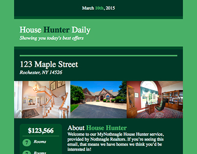 HTML Email - House Hunter