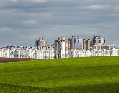 Minsk. Green grass. 2014