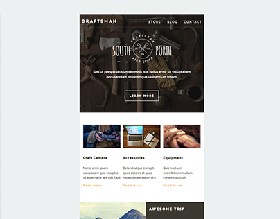 Mailchimp Email Template