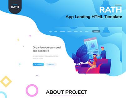 RATH App Landing HTML Template