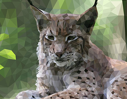 Low-poly Art Lynx Illustration