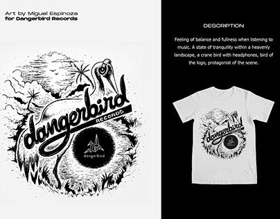 Tshirt Illustration for Dangerbird Records