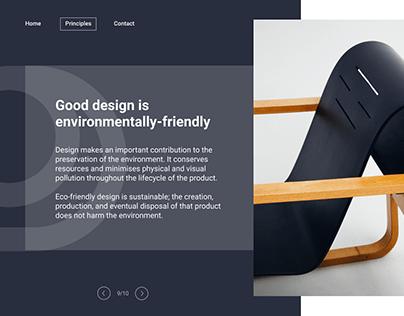 Principle by Dieter Rams   Web design