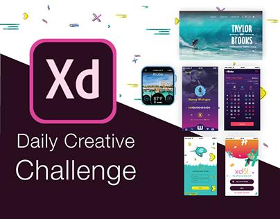 Adobe xd Daily Creative Challenge