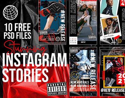 Stunning Instagram Stories (Free PSD)