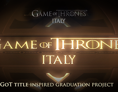Polytechnic of Turin: GoT ITALY_M.Sc. Thesis