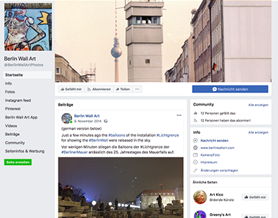 Social Media Strategie- Berlin Wall Art