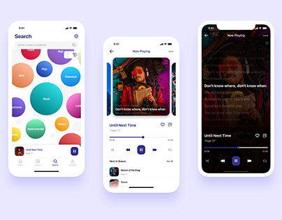 Music Player App iOS