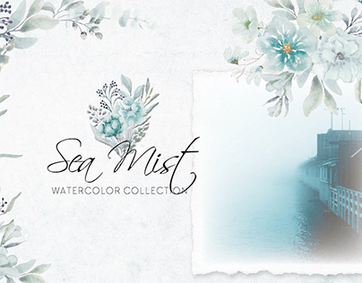 Sea Mist watercolor collection
