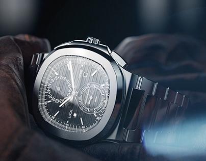 Patek Phelippe Nautilus watch rendering