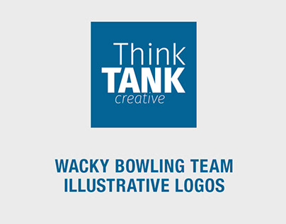 BOWLING LOGOS Wacky Illustrative Logos