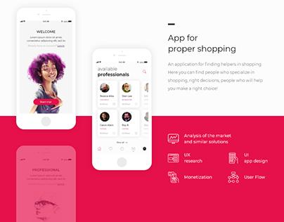 App for proper shopping - presentation