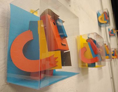 Escultura en papel, Bernardo, para Hombre Rayo