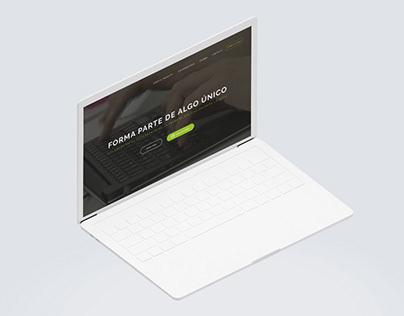 UX/UI Landing page, promotion AECC