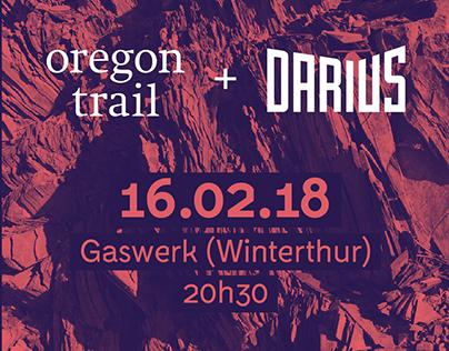 Oregon Trail + Darius \ Flyer