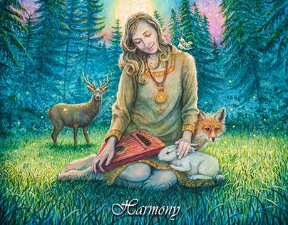 """CD COVER DESIGN for SKYFOREST - """"Harmony"""""""