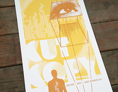 Cut Copy Hand Printed Gig Poster