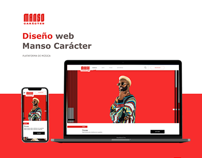 Diseño web (UX) - Plataforma de música