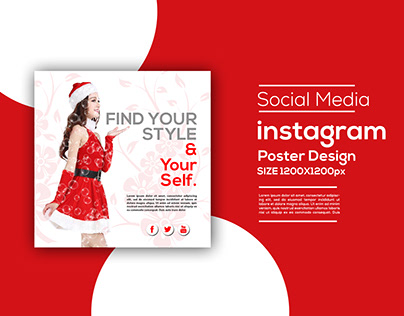 Social Media Instagram Post design with your life style