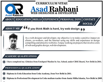 Asad Rabbani | Resume